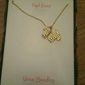 Vera Bradley Gold-tone loyal friend Scottie Neckla